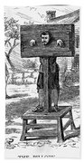 Colonial Pillory - To License For Professional Use Visit Granger.com Beach Towel