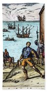Columbus: Departure, 1492 Beach Towel