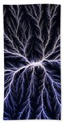 Electrical Discharge Lichtenberg Figure Beach Towel by Ted Kinsman