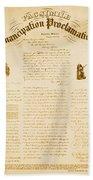 Emancipation Proclamation Beach Towel