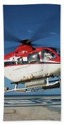 Eurocopter Ec135 Utility Helicopter Beach Towel