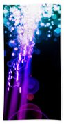 Explosion Of Lights Beach Towel by Setsiri Silapasuwanchai