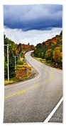Fall Highway Beach Towel by Elena Elisseeva