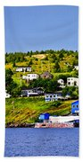 Fishing Village In Newfoundland Beach Towel by Elena Elisseeva