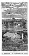 Flood: Clarksville, 1874 Beach Towel