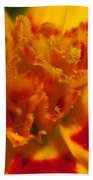 French Marigold Named Starfire Beach Towel