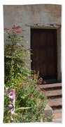 Gardens In Carmel Monastery Beach Towel