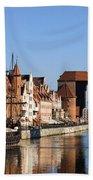 Gdansk In Poland Beach Sheet