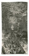 Grants Canal, 1862 Beach Towel by Photo Researchers