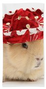 Guinea Pig Wearing A Hat Beach Towel