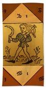 Horoscope Types, Engel, 1488 Beach Towel by Science Source
