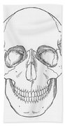 Illustration Of Anterior Skull Beach Towel