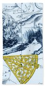 Leo, The Hevelius Firmamentum, 1690 Beach Towel by Science Source