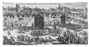 Massacre Of Huguenots Beach Towel