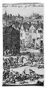 Massacre Of Huguenots Beach Towel