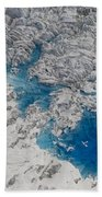 Meltwater Lakes On Hubbard Glacier Beach Towel