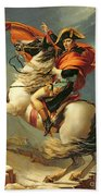Napoleon Crossing The Alps On 20th May 1800 Beach Towel