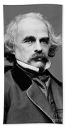 Nathaniel Hawthorne, American Author Beach Towel by Photo Researchers