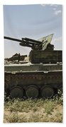 Old Russian Bmp-1 Infantry Fighting Beach Towel