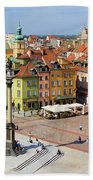 Old Town In Warsaw Beach Towel