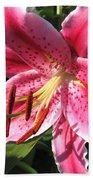 Oriental Lily Named Tiber Beach Towel