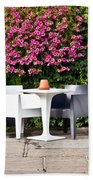 Outdoor Cafe Beach Towel by Tom Gowanlock