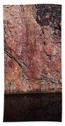Painted Rocks At Hossa With Stone Age Paintings Beach Towel