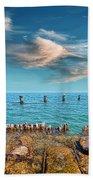 Pier Posts Beach Towel