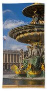 Place De La Concorde Beach Towel