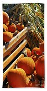 Pumpkins Beach Towel by Elena Elisseeva
