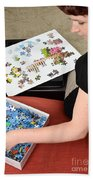 Puzzle Therapy Beach Towel
