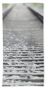 Railroad Tracks Beach Towel