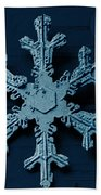 Snow Crystal Beach Towel