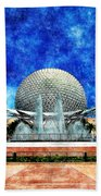 Spaceship Earth And Fountain Of Nations Beach Towel