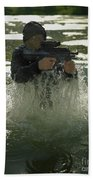 Special Operations Forces Soldier Beach Towel