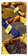 Spices On The Market Beach Towel