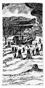 Spirit Lake Massacre, 1857 Beach Towel