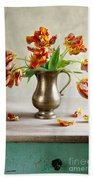 Still Life With Tulips Beach Towel