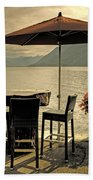 Table And Chairs Beach Sheet