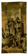 The Art Of Brewing, Babylon Beach Towel by Science Source