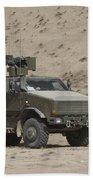 The German Army Atf Dingo Armored Beach Towel