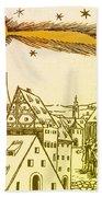 The Great Comet Of 1556 Beach Towel
