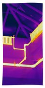 Thermogram Of Steam Pipes Beach Towel