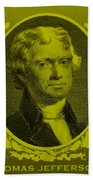 Thomas Jefferson In Yellow Beach Towel