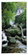 Torc Waterfall, Killarney, Co Kerry Beach Towel