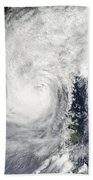 Typhoon Megi Beach Towel