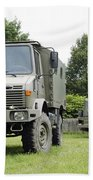 Unimog Truck Of The Belgian Army Beach Towel