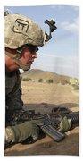 U.s Army Specialist Provides Security Beach Towel