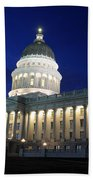 Utah Capitol Building At Twilight Beach Towel