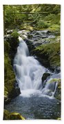 Waterfalls Of Sol Duc River, Olympic Beach Towel